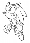 Sonic the Hedgehog in a jump