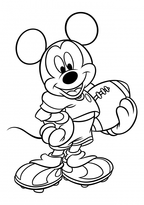 Mickey Mouse is an American football player