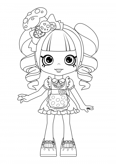 Shoppies - Coco Cookie Coloring Pages, Shopkins Coloring Pages -  Colorings.cc