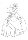 Tiana dancing in a ball gown