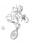 Minnie plays tennis
