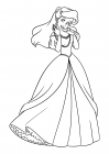 Sweet Princess Ariel in a ball gown