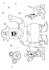 Mickey Mouse, Pirate Pete and Pluto are astronauts