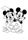 Mickey and Minnie celebrate Halloween