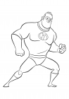High quality coloring page - Superhero Bob Parr