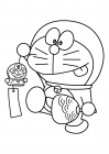 Doraemon with souvenirs