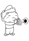 Quincy plays the trumpet