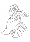 Princess Ariel dancing in a ball gown