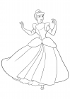 Cinderella in a ball gown