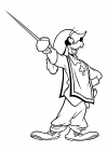 Goofy - Musketeer with a sword