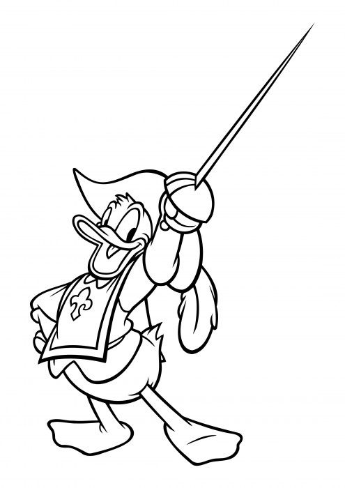 Donald Duck - Musketeer with a sword