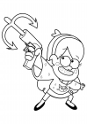 Mabel with grappling hook