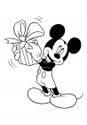 Mickey Mouse rejoices gift