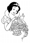 Portrait of Snow White with a basket of flowers