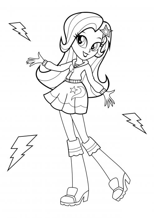 Trixie é Uma Menina Coloring Pages, My Little Pony Equestria Girls Coloring  Pages - Colorings.cc