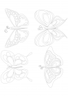 Patterned butterflies 3