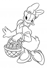 Daisy Duck with Easter Basket