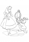 Rabbit shows Alice a watch