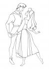 Coloring for girls - Disney Princess - Prince Phillip and Aurora