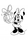 Minnie Mouse with a gift