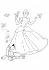 Cinderella, Bruno the dog and the birds